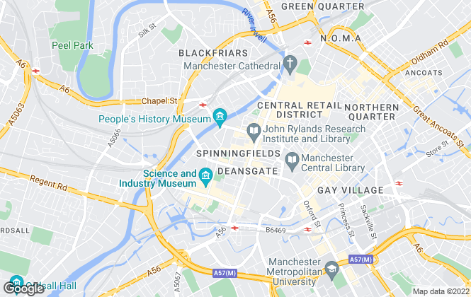 Map for The Good Letting Agency, Manchester
