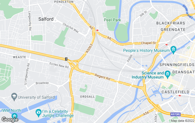 Map for Strike, Manchester