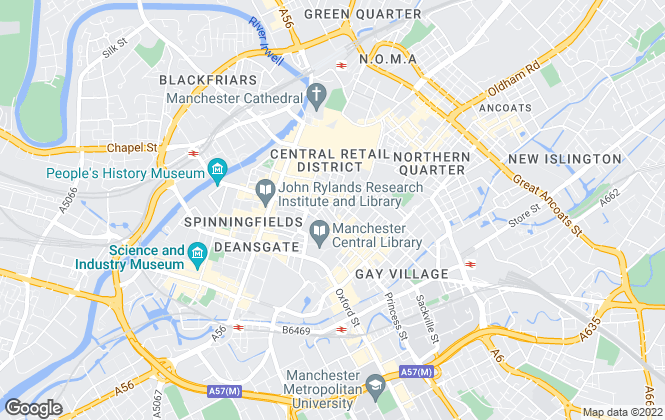 Map for COLLIERS (Manchester), Manchester (Industrial)