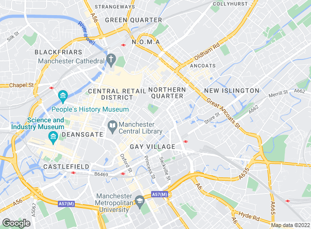 Map for Jones Lang LaSalle, Manchester