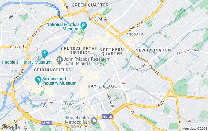 Map for Jones Lang LaSalle, Manchester