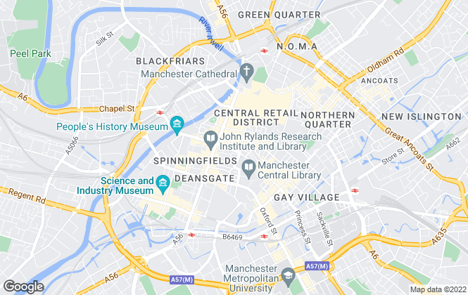 Map for Avison Young, Manchester