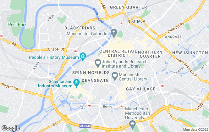 Map for Thornley Groves, Manchester Central