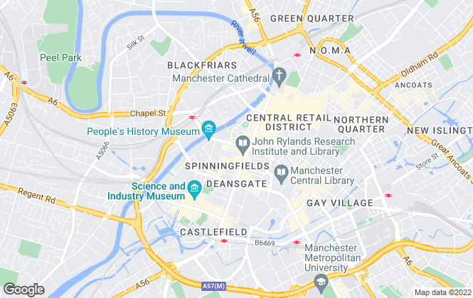 Map for Case McNair Estate Agents, Manchester