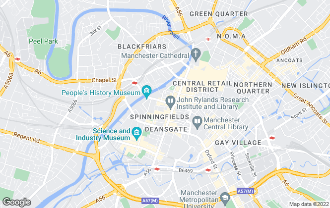 Map for Savills Lettings, Manchester