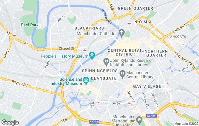 Map for Capital Properties (UK) Limited, Manchester (Delancy Properties)