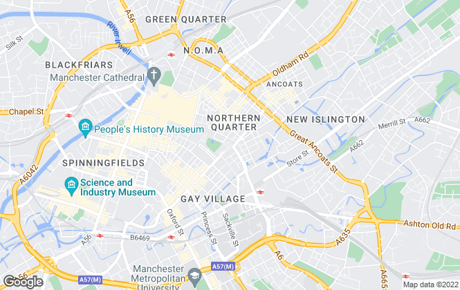Map for Property Hub, Manchester