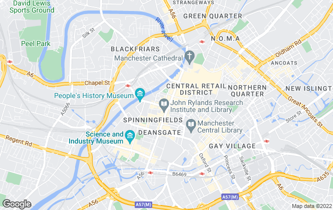 Map for SILK LETTING LTD, Manchester