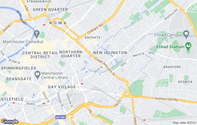 Map for Big Street Lettings, Manchester
