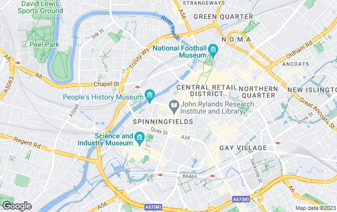 Map for Portfolio, Manchester