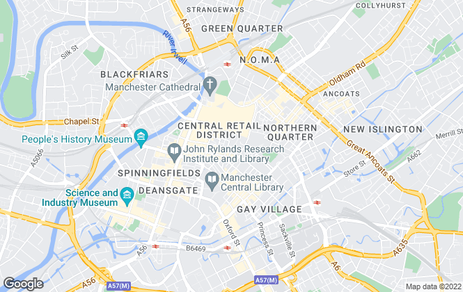Map for Cushman & Wakefield LLP, Manchester
