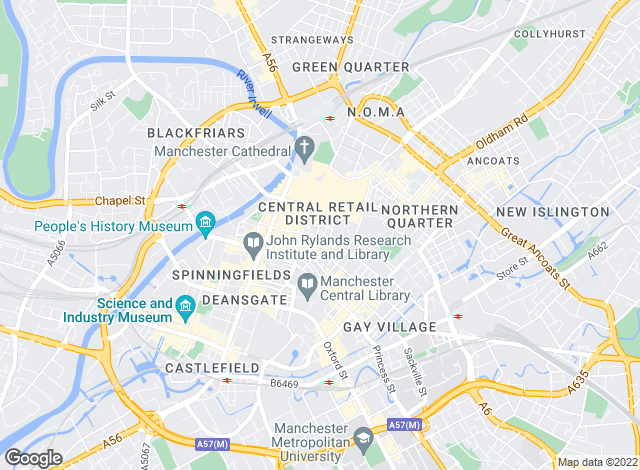 Map for Hurstwood Holdings, Manchester