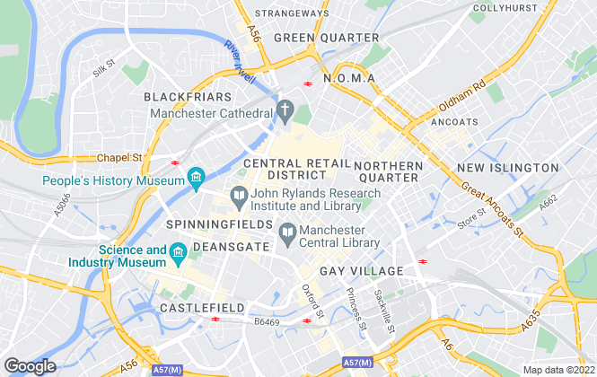 Map for Cushman & Wakefield, Manchester