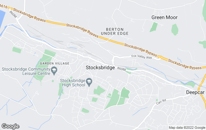 Map for Lancasters Property Services, Stocksbridge