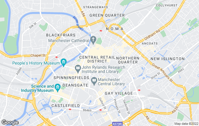 Map for GVA Leisure, GVA Manchester