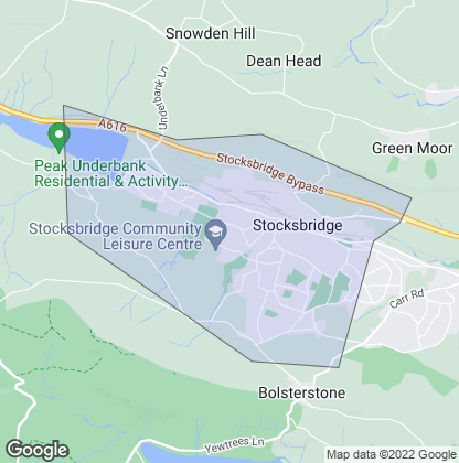 Map of property in Stocksbridge