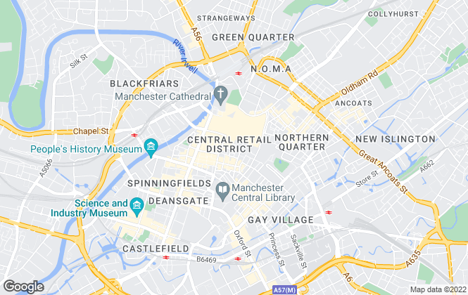 Map for GVA, Manchester