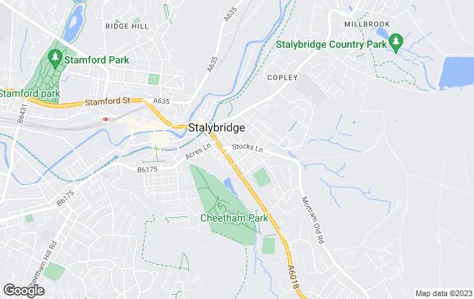 Map for Taylor & Wood Estate Agents, Stalybridge