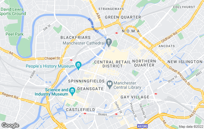 Map for W T Gunson, Manchester