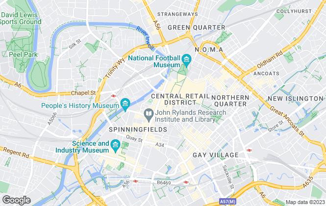 Map for W T Gunson, Manchester - BPG