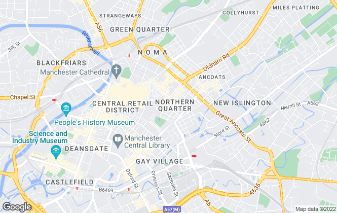 Map for urbanbubble, Manchester