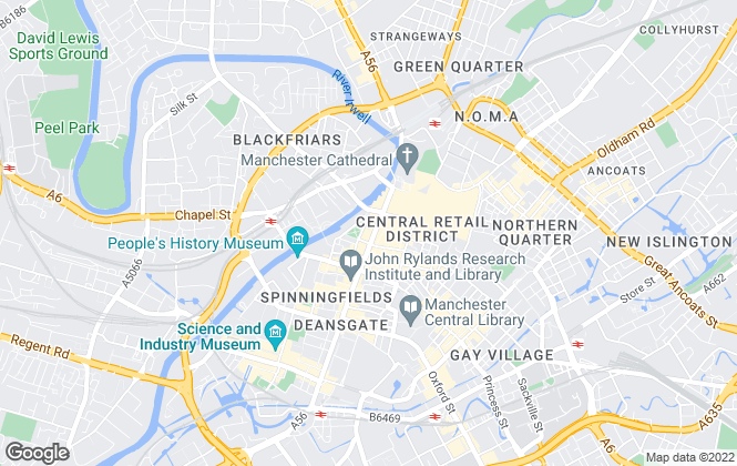 Map for CHEETHAM & MORTIMER SURVEYORS LLP, Manchester
