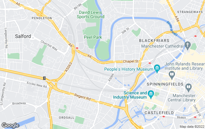 Map for Roseland Property Capital, Salford