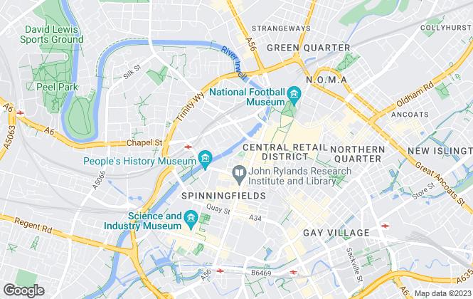 Map for Roger Hannah Ltd, Manchester