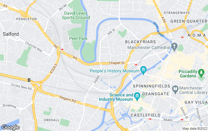 Map for Crescent Lettings (NW) Limited, Manchester