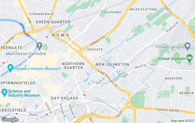 Map for Cert Property , Manchester Lettings