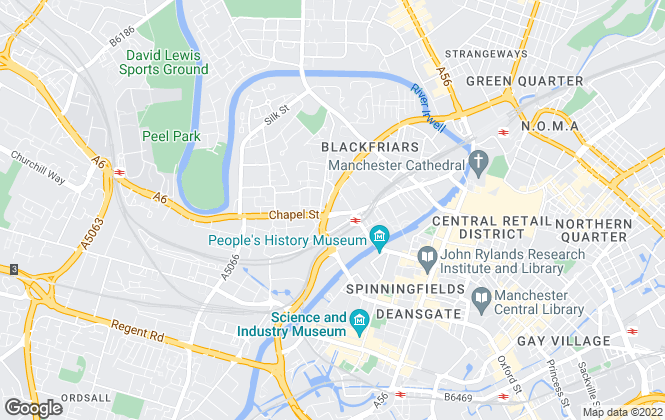 Map for C & R Properties Ltd, Manchester (City)