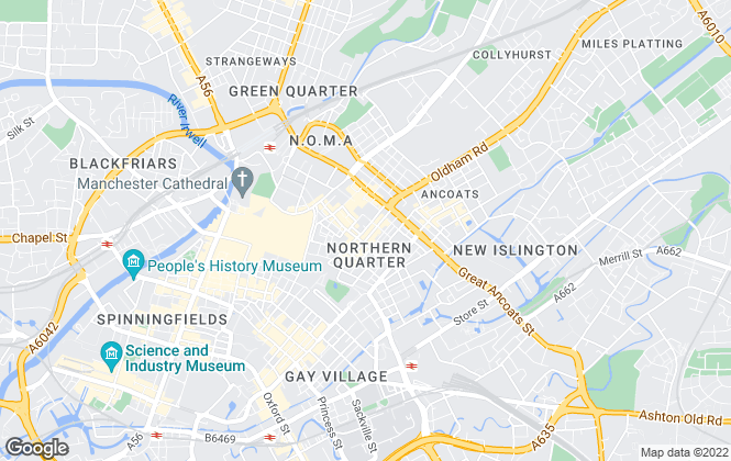 Map for Thornley Groves, Manchester Northern quarter