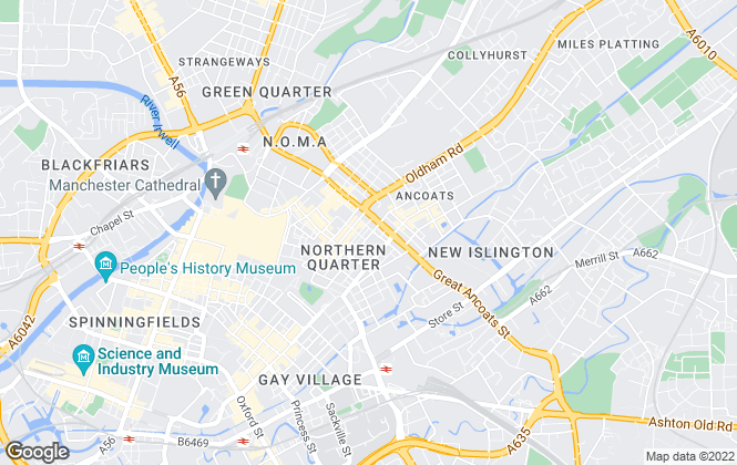 Map for The Manchester Estate Agent, Manchester