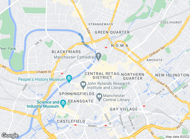 Map for Hunters, Manchester - lettings