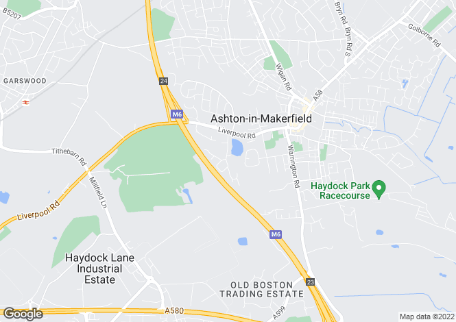 Map for Old Hall Drive, Ashton In Makerfield  WN4 9NA
