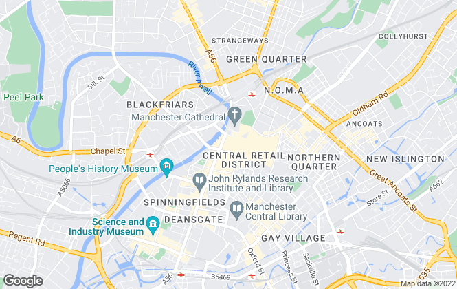 Map for Hunters , Manchester