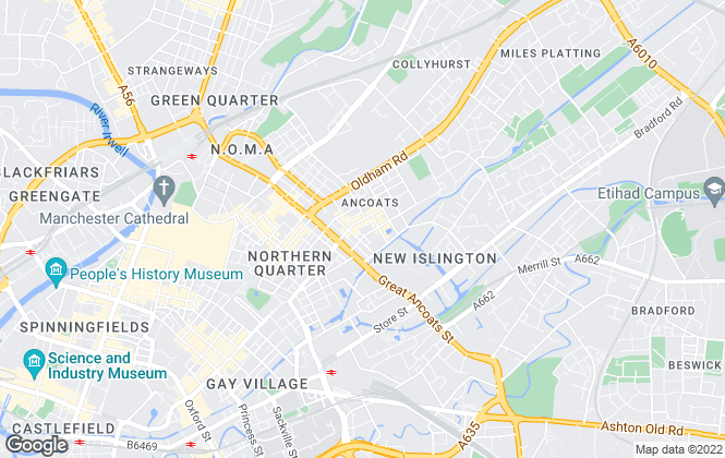 Map for Northern Group, Manchester