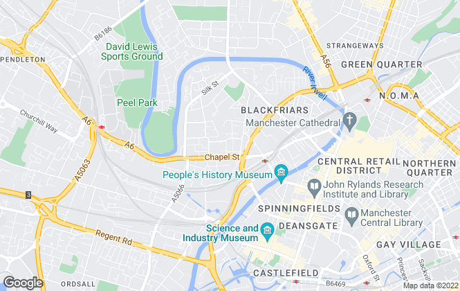 Map for Allison & Co, Manchester