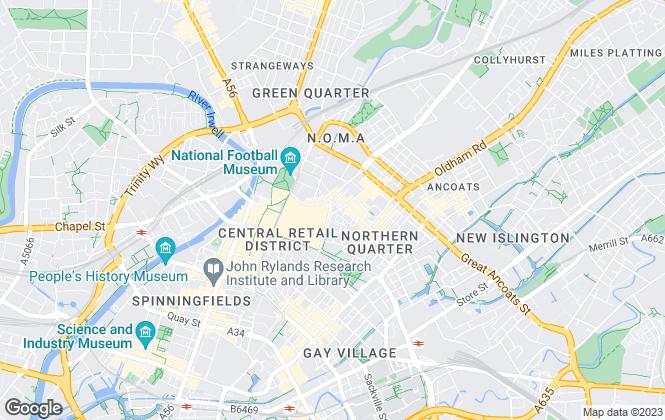 Map for JLL, Manchester High Street