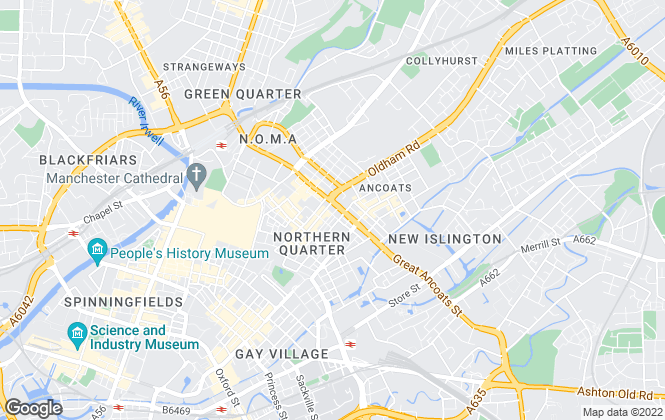 Map for Buckley Frayne, Manchester