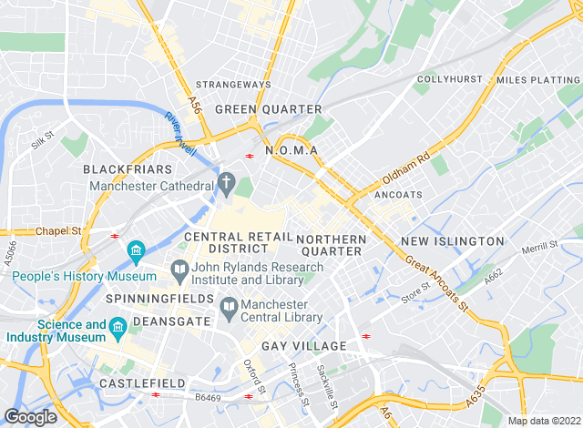 Map for Jones Lang LaSalle, Manchester High Street