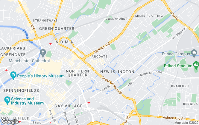 Map for northerngroup, Manchester