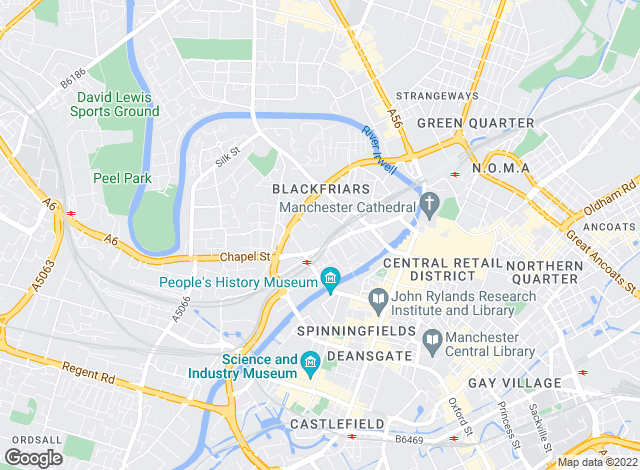 Map for Highcross, Manchester