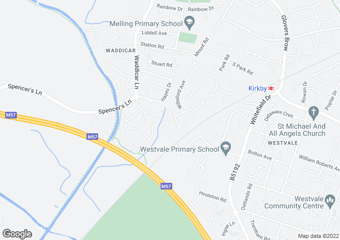 Map for Pickworth Way, Liverpool