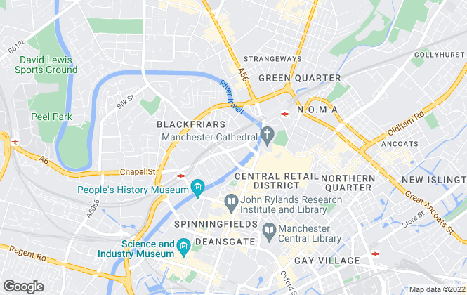 Map for S. Kershaw & Sons Chartered Surveyors, Manchester