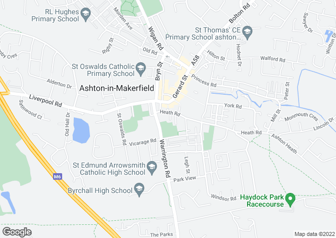 Map for CHURCH TERRACE, ASHTON IN MAKERFIELD, WIGAN