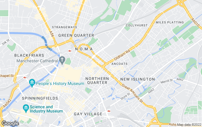 Map for UK Property Auctions, Manchester