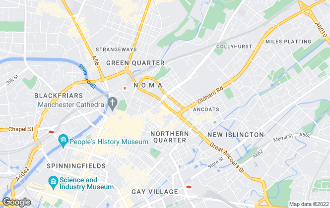 Map for JP Hay Sales & Lettings Limited, Manchester