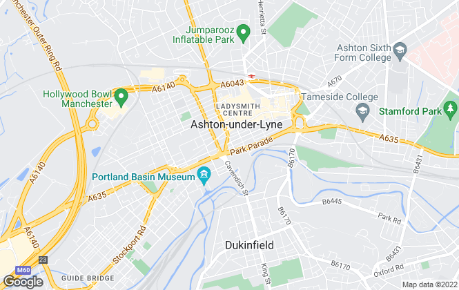 Map for Belvoir, Ashton under Lyne Sales