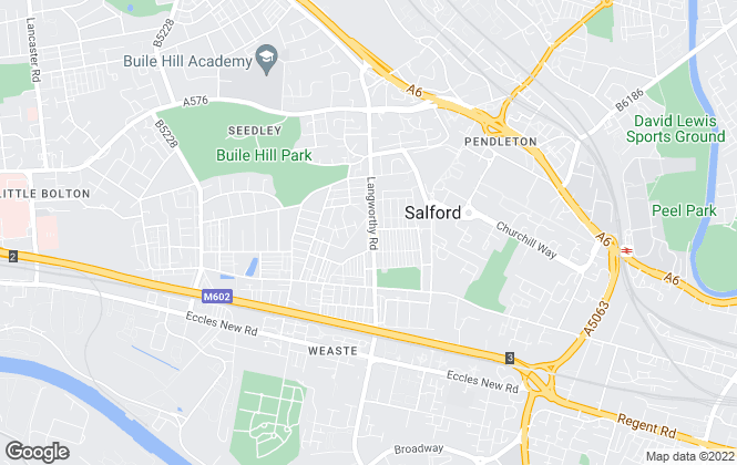 Map for Reeds Rains , Salford